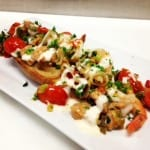 Vodka Flamed Shrimp Brushetta Recipe