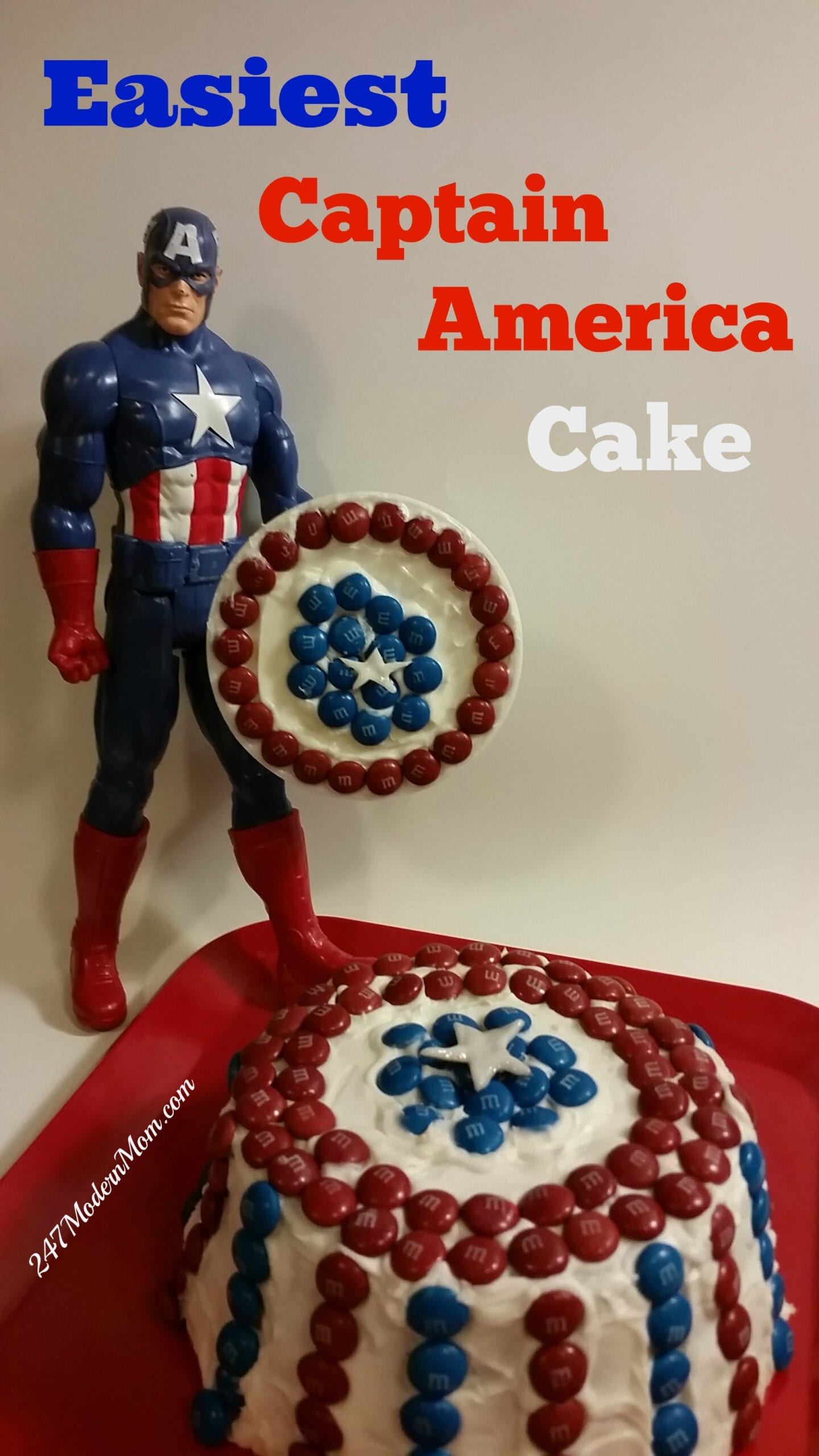 Easiest Captain America Cake Decoration: Plus TEN $100 Gift Cards Giveaway