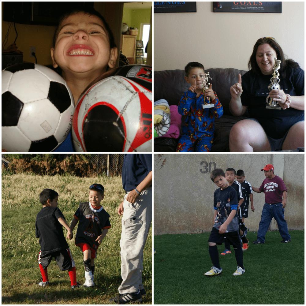 soccer family<span class=