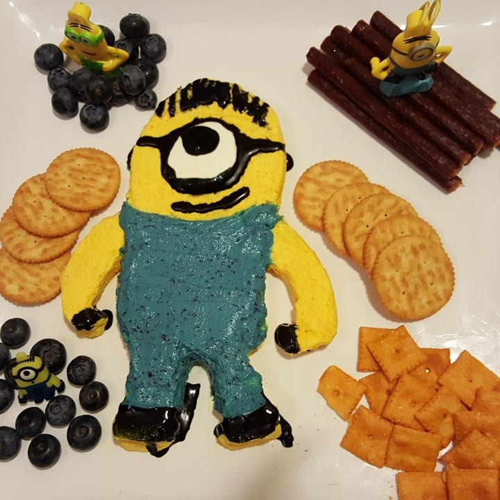 Finished Minion Cheese Spread Recipe