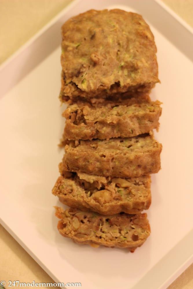 Zucchini Bread Recipe - No Sugar Added -6