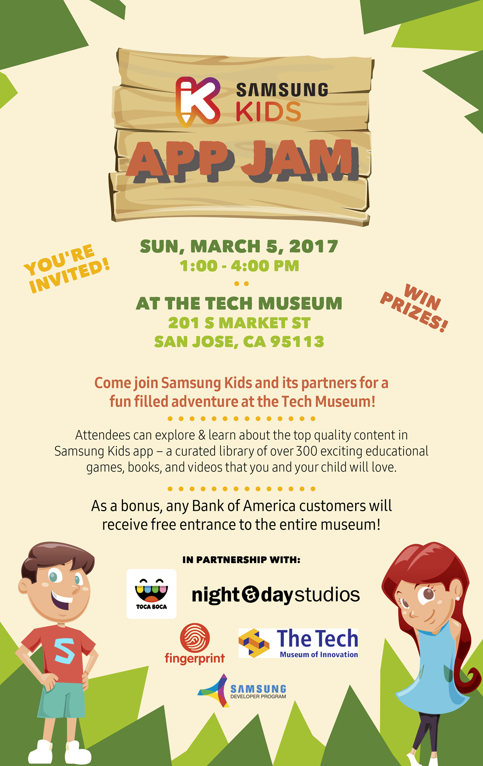 Tech Museum Kids Invite