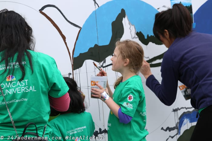 Comcast Cares Mural Work