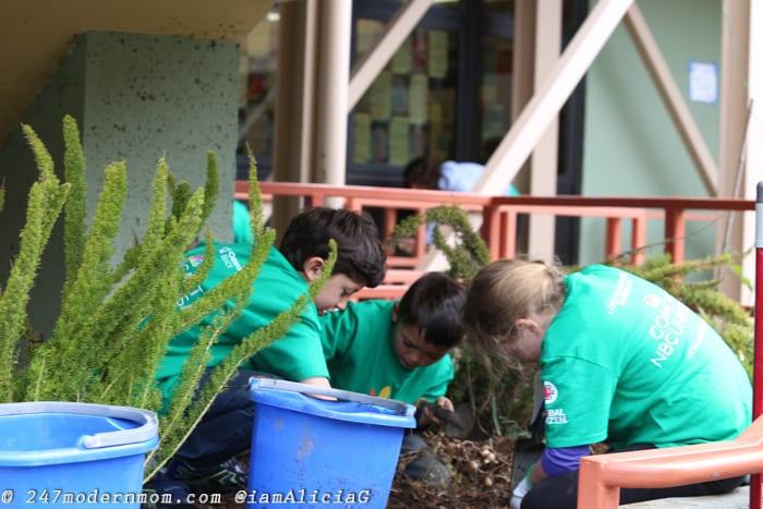 Comcast Cares Day Gardening