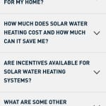 Solar Water Heating FAQs